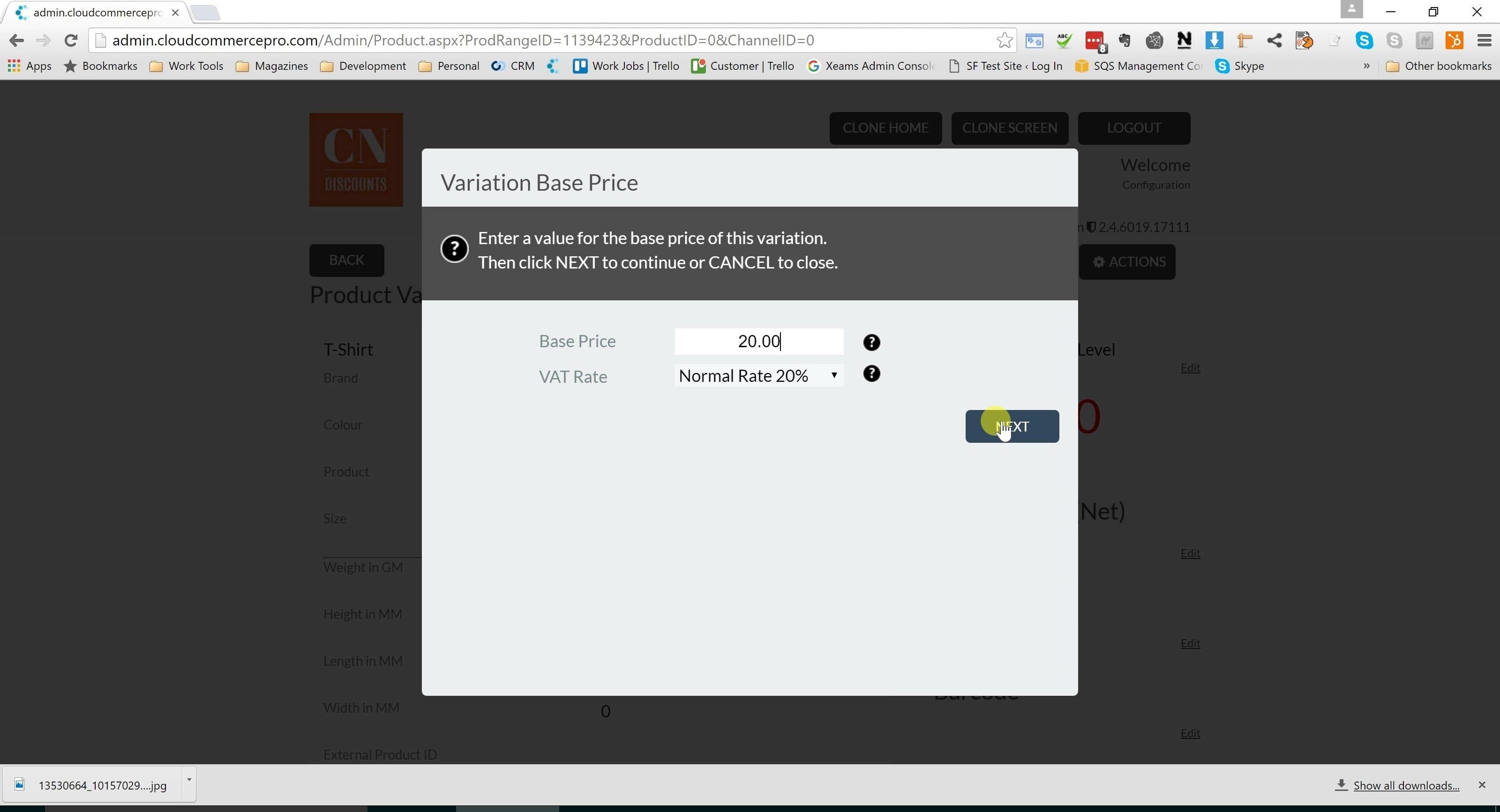 9. Enter base Price