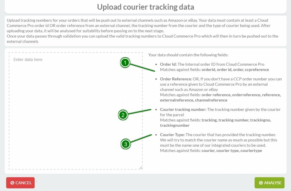 How To Bulk Upload Courier Tracking Data - Cloud Commerce Pro