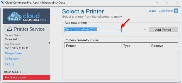 Manage Printers