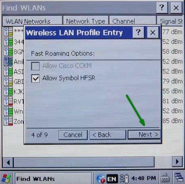 Symbol 3200 Barcode Scanner Connecting To Wifi Network Cloud