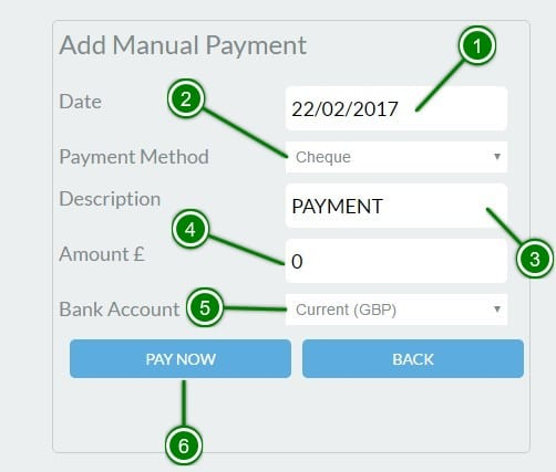 5. Add Manual Payment