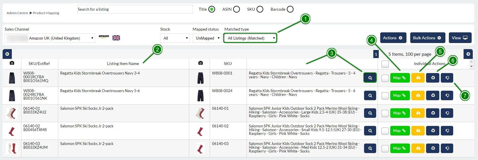 3. Mapping Matched Products