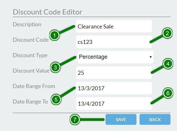 3.Discount Code Editor