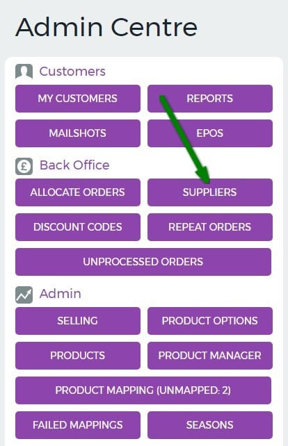 10. Supplier Setup - Admin Centre