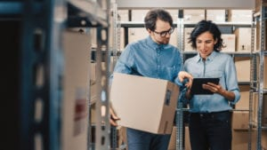 By using eBay stock management software, this warehouse team has reduced workload and become more efficient.