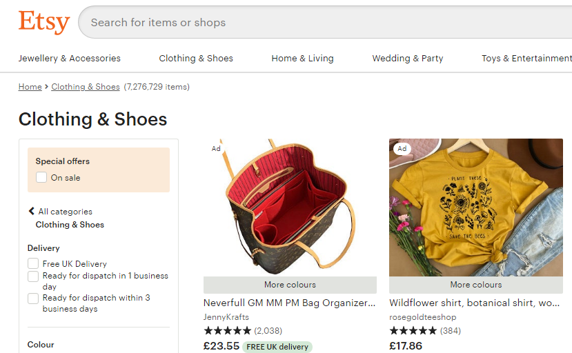 Pasted into Cloud Commerce Pro now supports Etsy.