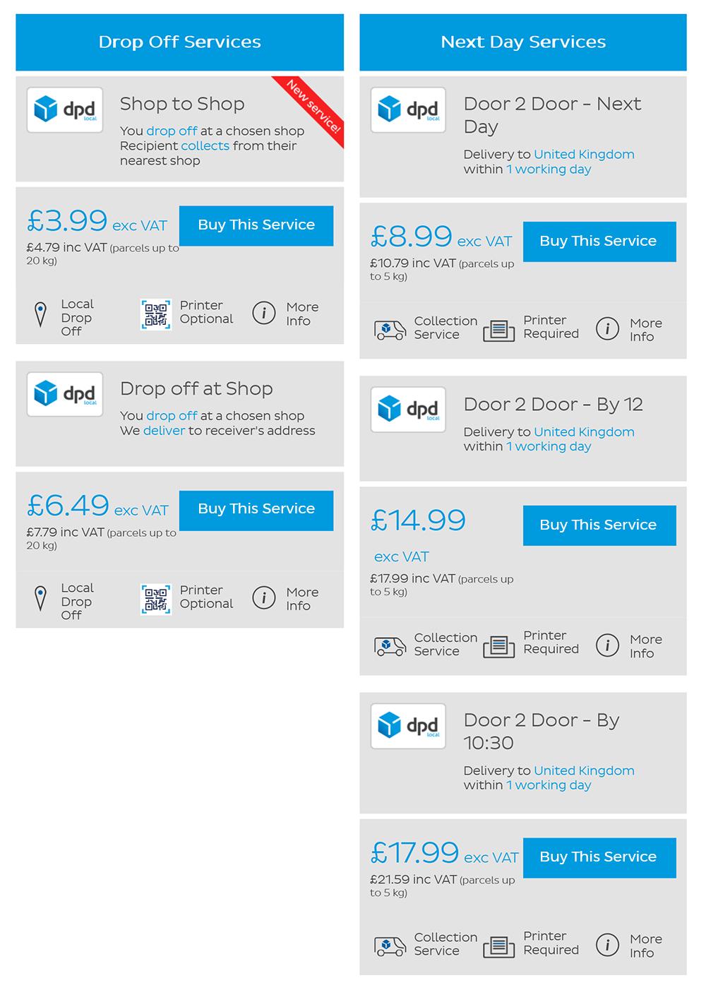 DPD Local Prices 1kg Aug 2020